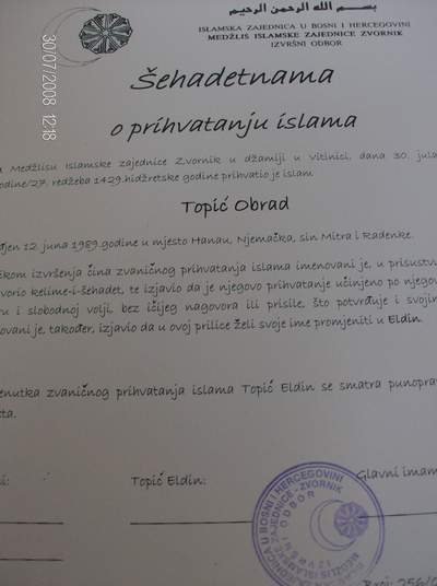 Pregedate slike iz ?lanka: U Vitinici Obrad prihvatio Islam